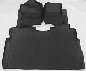 2015 2018 Ford F 150 Weathertech Floor Liners Full Set Supercrew 446971 446972