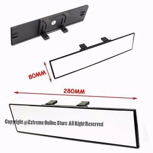 Universal 280mm Wide Angle Flat Clear Lens Anti Glare Clip On Rear View Mirror