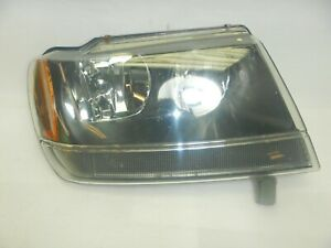 Jeep Grand Cherokee Wj 99 04 Oem Used Passenger Head Light Free Ship