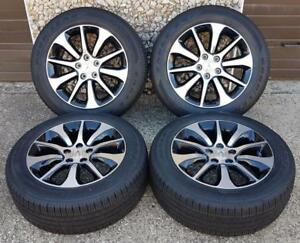 Acura Tlx Factory Oem Wheel And Tire Set 17 Rims 71826 Black Cnc S