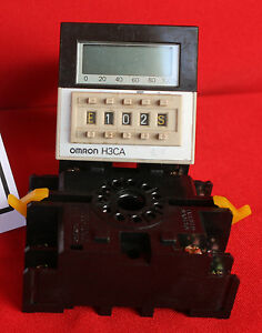 Omron Solid State Timer Model H3ca With Base
