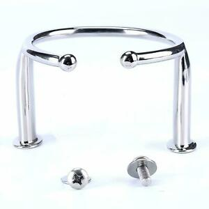 Stainless Steel Single Ring Cup Drink Holder Open Design For Marine Yacht Truck