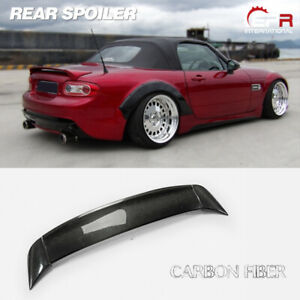 For Mazda Mx5 Roaster Miata Nc Soft Top Rbk Style Carbon Rear Trunk Spoiler Wing