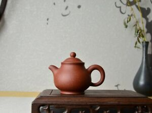 Good Clay Chinese Yixing Zisha Clay Handmade Pan Teapot 120cc