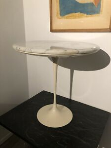 Vtg Authentic Knoll Saarinen Tulip Table Marble Top Complete Early Great Patina