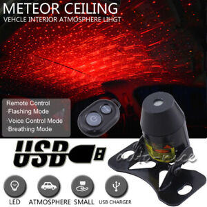Usb 3 mode Red Led Projector Star Light For Car Ceiling Atmosphere Meteor Lamp