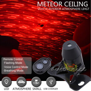 Red Led Projector Star Light Car Interior Atmosphere Meteor Starry Lamp Remote