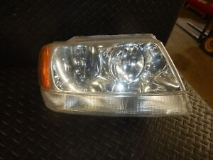 Jeep Grand Cherokee Wj 99 04 Oem Passenger Side Head Light Free Ship