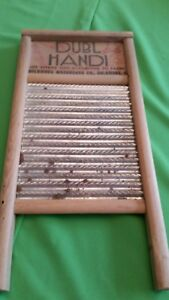 Antique Primitive Vintage Columbus Ohio Dubl Handi Washboard 23727 Small Hosiery