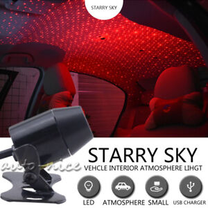 Red Led Projector Galaxy Light Home Car Roof Star Ceiling Atmosphere Light Usb