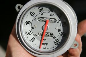 Ac Vintage Speedometer Silver Face 100 Mph 3 11 16 Case Diameter