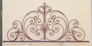Bed Header Bed Matrimonial Wrought Iron Headboard Tail Peacock Vintage 11