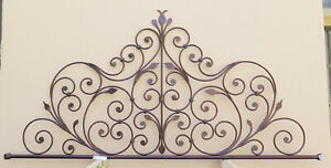 Bed Header Bed Matrimonial Wrought Iron Tail Peacock Vintage Headboard 9