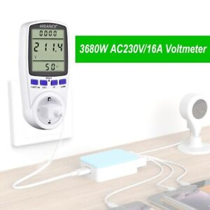 Ac Power Meter 220v Digital Wattmeter Eu Energy Electricity Socket Analyzer