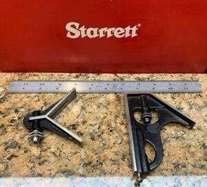 Starrett Combination Square Rule Set 12 Center Head Scale Machinist L261