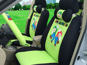 2018 New 1 Sets Cartoon Car Seat Cover Universal Seat Covers Car covers 18pcs