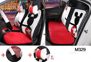 13pc Set Plus Cartoon Mickey Mouse Car Seat Cover Universal Seat Covers M329