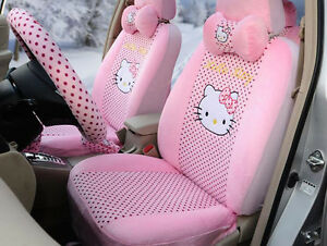 18pc set Plush Universal Car Seat Cover Hello Kitty Car Accessory Seat Covers