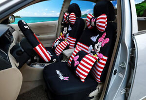 Luxury Cute Cartoon Mickey Mouse Minnie Car Cushion Universal Car Seat Cover 804