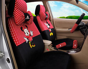 2018 New 1 Sets New Cute Mickey Mouse Plush Cartoon Universal Car Seat Cover