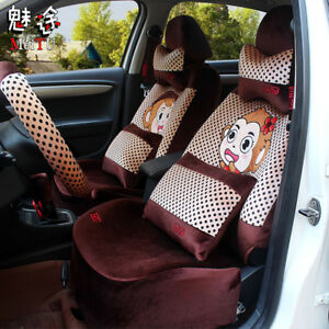 20ps Set Plush Cartoon Universal Car Seat Cover Seat Cushions Accessories M8659