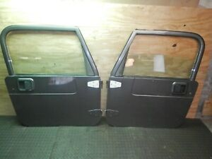 Jeep Wrangler Tj 97 06 Painted Grey Full Hard Door Pair Freight Ship