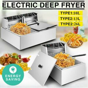 10 13 26l Electric Countertop Deep Fryer One two Tank Commercial Restaurant Bp