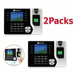 2pcs Realand 2 4 Biometric Fingerprint Time Attendance Machine Time Clock Us Bt