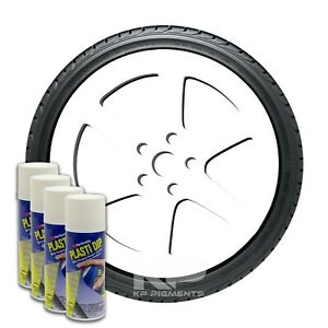 Performix Plasti Dip White Aerosol Spray Cans 11oz 4 Pack Wheel Rim Kit