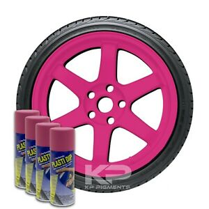 Performix Plasti Dip Fierce Pink Aerosol Spray Cans 11 Oz 4 Pack Wheel Rim Kit