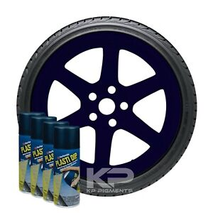 Performix Plasti Dip Black And Blue Aerosol Spray Cans 11oz 4 Pack Wheel Rim Kit