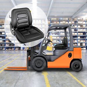 Universal Vinyl Forklift Suspension Seat Fit Clark Hyster Toyota Local Pop Sell