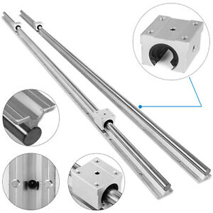 Sbr16 2000mm 2x Linear Rail Set 4x Bearing Block Cnc Set Shaft Rod Guideway
