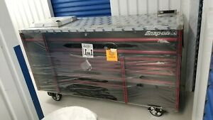 New Snapon Epiq 84 Black Red Trim Toolbox Ss Power Top Laptop Locking Cover
