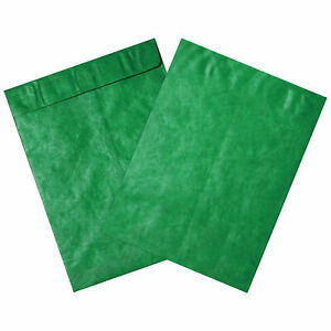 Tyvek Self seal Colored Envelopes 12 X 15 1 2 End Opening Green 100 Pack