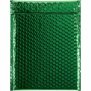 Glamour Bubble Mailers Self seal 9 X 11 1 2 Green 100 Pack Gbm0911g Lot