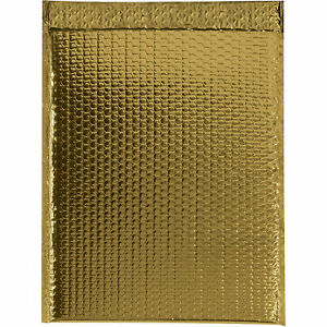 Glamour Bubble Mailers Self seal 16 X 17 1 2 Gold 48 Pack Gbm1617gd Lot