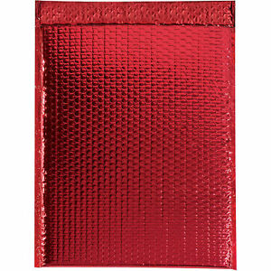 Glamour Bubble Mailers Self seal 16 X 17 1 2 Red 48 Pack Gbm1617r Lot