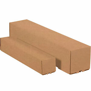 Square Mailing Tubes 3 X 3 X 30 Kraft 200 ect 32 M3330k Lot Of 25