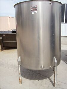 Perma san 475 Gallon Stainless Steel Vertical Mixing Tank