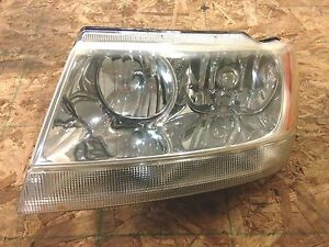 2002 Jeep Grand Cherokee Headlight Driver 1999 2004 Limited