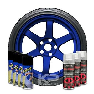 Performix Plasti Dip Pearl Wheel Kit 4 Black 3 Deep Blue Sea Spray Can Wheel Kit