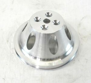 Aluminum Sbc Chevy 350 383 Short Water Pump Pulley 1 Groove Satin Bpe 5008