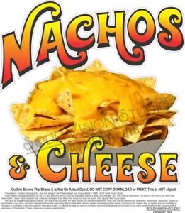Nachos Cheese Concession Trailer Mexican Food Truck Weatherproof Vinyl Decal