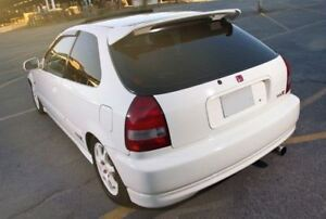 Jdm Type R Primer Black Rear Roof Wing Spoiler For 96 00 Honda Civic Hatchback