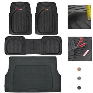 Motor Trend Car Floor Mats W Cargo Trunk Rubber Protection Full Set Heavy Duty