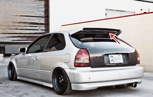 Seeker V2 Carbon Fiber Rear Roof Wing Spoiler For 96 00 Honda Civic Hatchback
