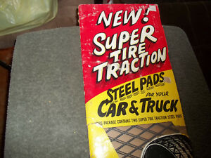 Vintage Tire Wheel Winter Ice Traction Nos