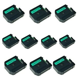 Us Stock 10pk Mk 721 Mk721 Black On Green Label Tape For Brother P touch 3 8