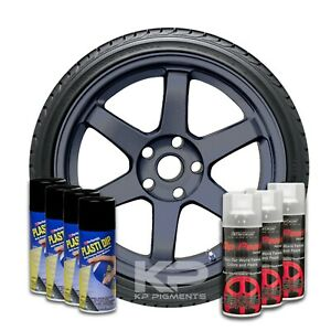 Performix Plasti Dip Pearl Wheel Kit 4 Black 3 Hyper Graphite Aerosol Spray Cans